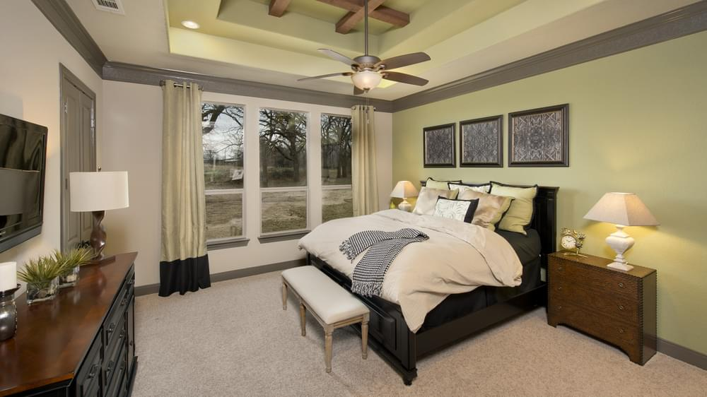 The Breckenridge Master Bedroom Texas Custom Home Photo