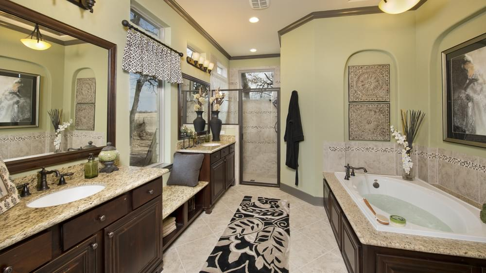 The Breckenridge Master Bathroom Texas Custom Home Photo