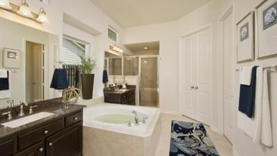 The Bridgeport Master Bathroom Texas Custom Home Photo