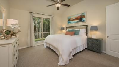 The Crockett Master Bedroom Texas Custom Home Photo