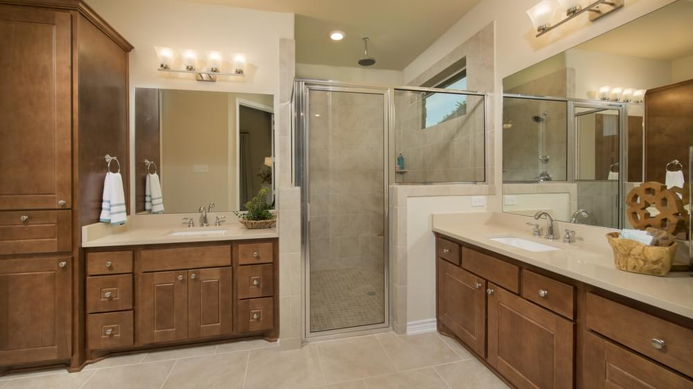 The Crockett Master Bathroom Texas Custom Home Photo