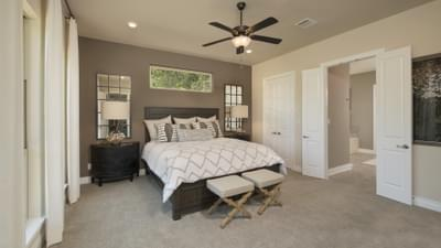 The Driftwood Master Bedroom Texas Custom Home Photo