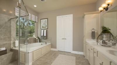 The Driftwood Master Bathroom Texas Custom Home Photo