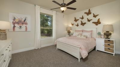 Bedroom 2 - La Salle Model in Huntsville Design Center Tilson Custom Home Photo