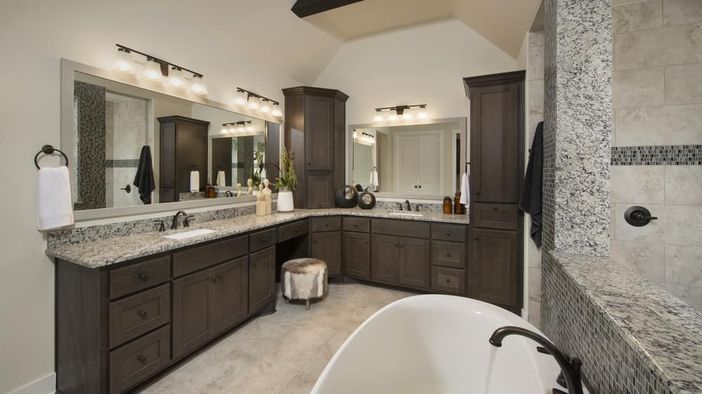 The La Salle Master Bathroom Texas Custom Home Photo