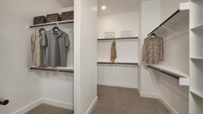 Master Closet - La Salle Model in Huntsville Design Center Tilson Custom Home Photo
