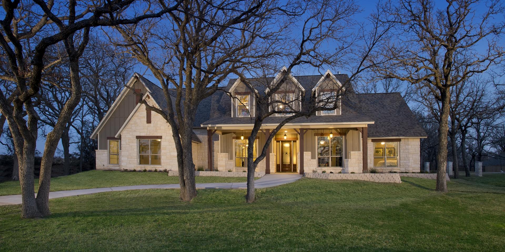 The Breckenridge Custom Home Plan from Tilson Homes