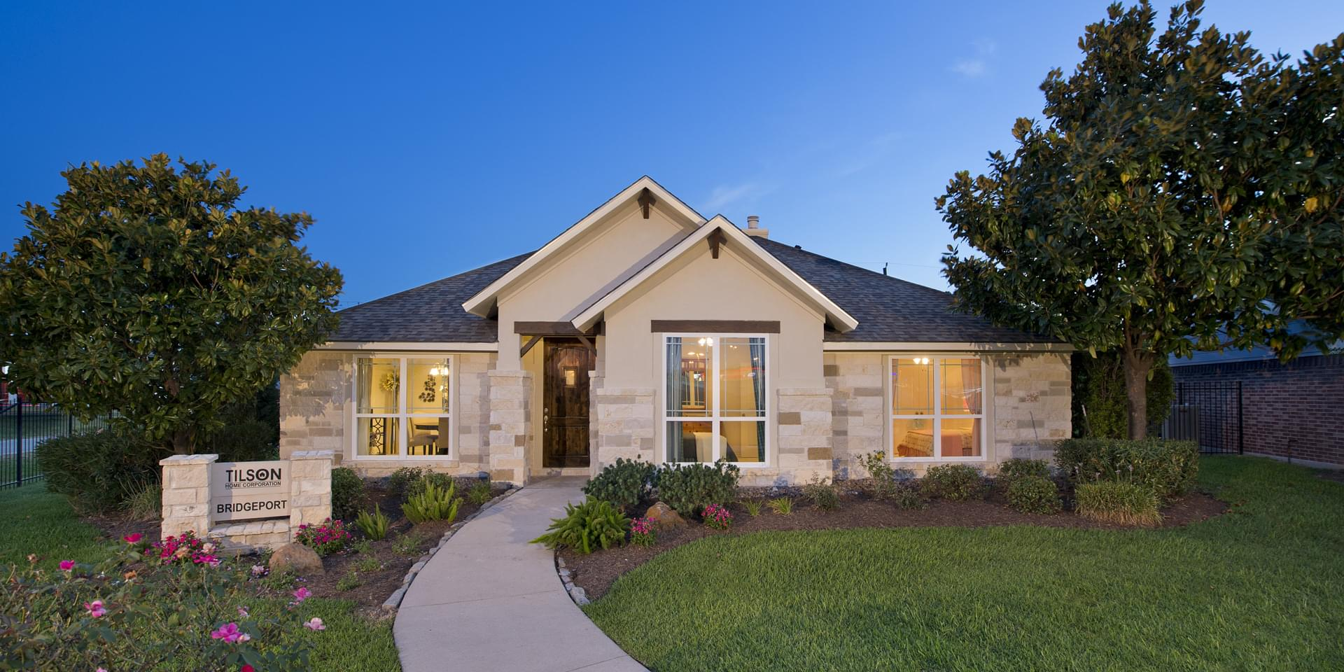 The Bridgeport Custom Home Plan from Tilson Homes