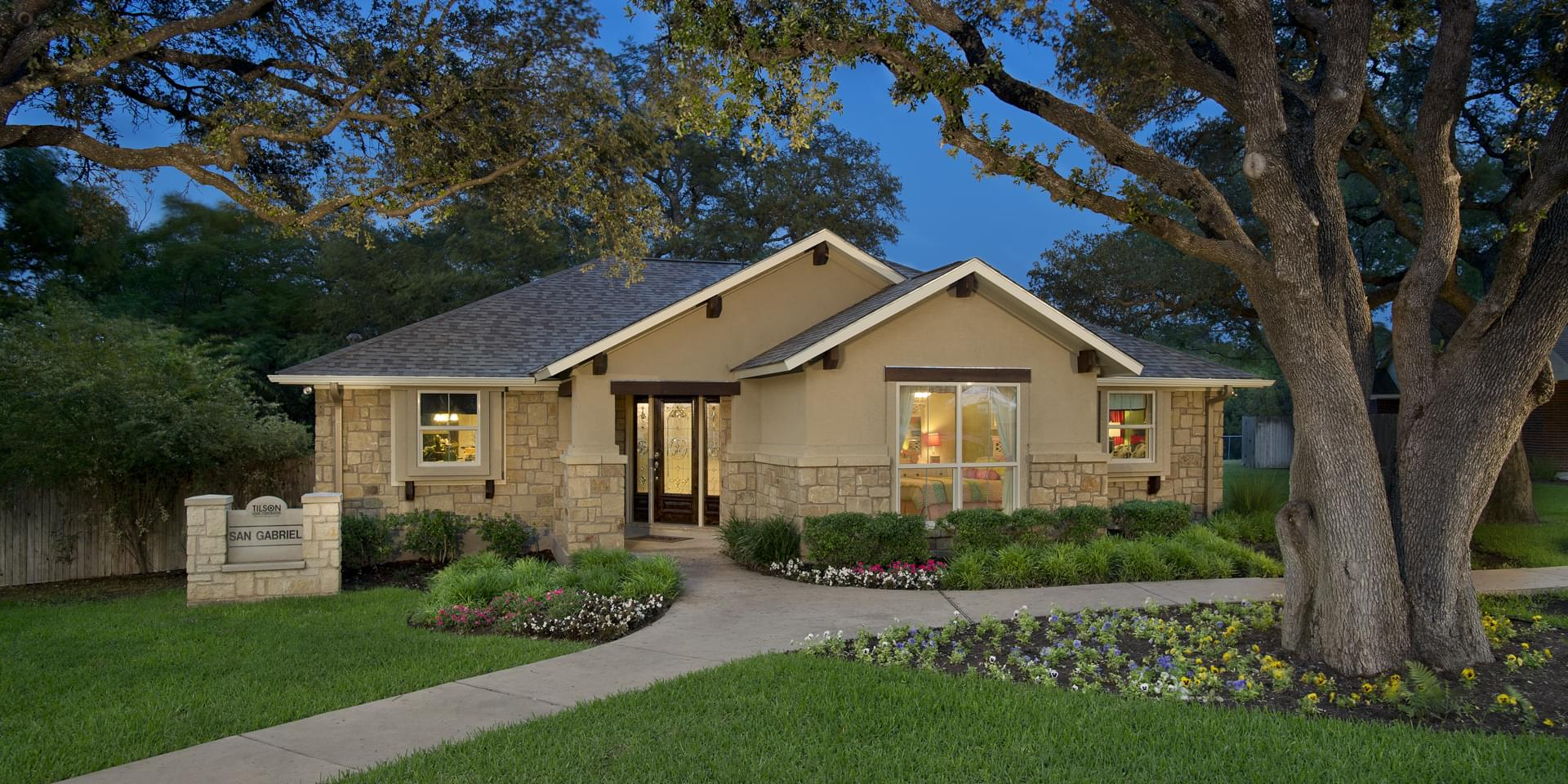 The San Gabriel Custom Home Plan from Tilson Homes