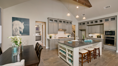 Dining Room and Kitchen - Wimberley Model in Boerne Design Center Tilson Custom Home Photo