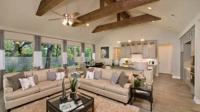 Family Room - Wimberley Model in Boerne Design Center Tilson Custom Home Photo