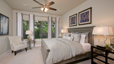 Master Bedroom - Wimberley Model in Boerne Design Center Tilson Custom Home Photo