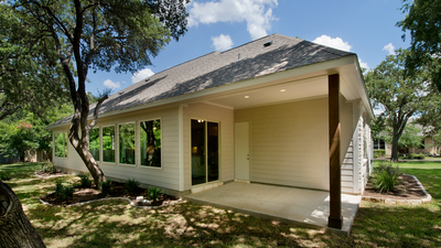 Rear Porch - Wimberley Model in Boerne Design Center Tilson Custom Home Photo