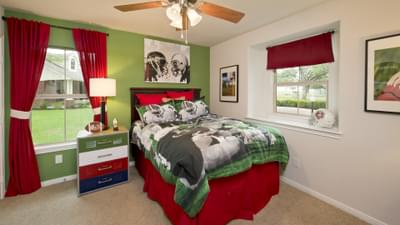 Bedroom 2 - The San Gabriel Model in Georgetown Design Center Tilson Custom Home Photo