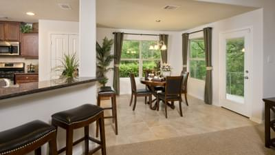 Kitchen and Dining Area - The San Gabriel Model in Georgetown Design Center Tilson Custom Home Photo