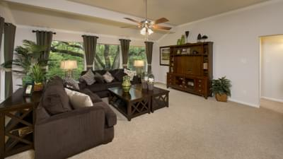 Family Room - The San Gabriel Model in Georgetown Design Center Tilson Custom Home Photo