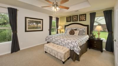 Master Bedroom - The San Gabriel Model in Georgetown Design Center Tilson Custom Home Photo