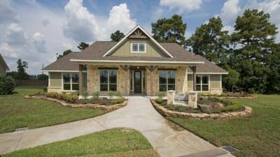Elevation D - The San Jacinto Model in Spring Design Center Tilson Custom Home Photo