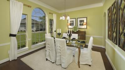 Dining Room - The Savannah Model in Bryan Design Center Tilson Custom Home Photo