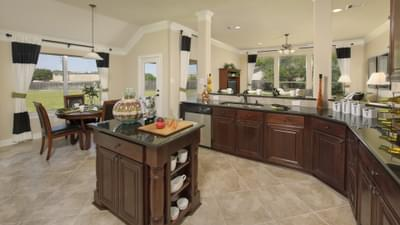 Kitchen - The Savannah Model in Bryan Design Center Tilson Custom Home Photo