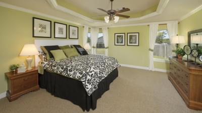 Master Bedroom - The Savannah Model in Bryan Design Center Tilson Custom Home Photo