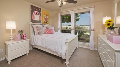 Bedroom 3 - The Guadalupe Model in San Marcos Design Center Tilson Custom Home Photo