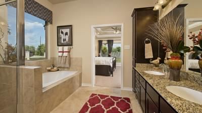 Master Bathroom - The Guadalupe Model in San Marcos Design Center Tilson Custom Home Photo