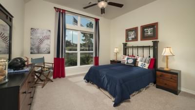 Bedroom 2 - The Magnolia Model in Katy Design Center Tilson Custom Home Photo