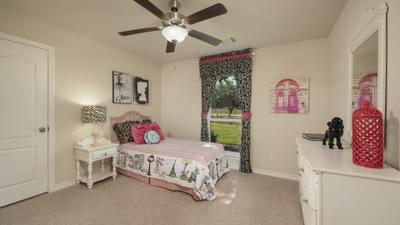 Bedroom 3 - The Magnolia Model in Katy Design Center Tilson Custom Home Photo