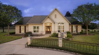 Elevation B - The Magnolia Model in Katy Design Center Tilson Custom Home Photo
