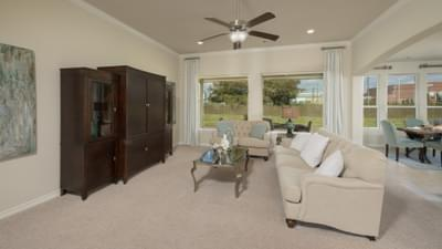 Family Room - The Magnolia Model in Katy Design Center Tilson Custom Home Photo