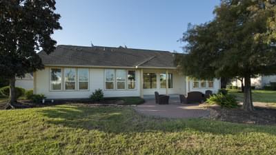 Rear Covered Porch - The Magnolia Model in Katy Design Center Tilson Custom Home Photo