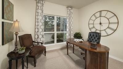 Study - The Magnolia Model in Katy Design Center Tilson Custom Home Photo