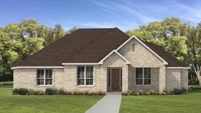 Elevation B - The Fayetteville Tilson Custom Home Photo