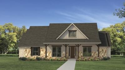 Elevation C - The Fayetteville Tilson Custom Home Photo