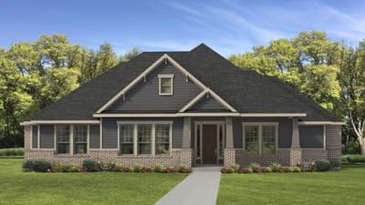 Elevation D - The Fayetteville Tilson Custom Home Photo