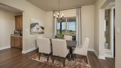 Dining Area - Fayetteville Model in Waxahachie Design Center Tilson Custom Home Photo