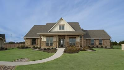 Fayetteville Model in Waxahachie Design Center Tilson Custom Home Photo