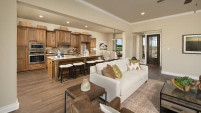 Family Room - Fayetteville Model in Waxahachie Design Center Tilson Custom Home Photo