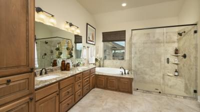 Master Bathroom - Fayetteville Model in Waxahachie Design Center Tilson Custom Home Photo