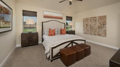 Master Bedroom - Fayetteville Model in Waxahachie Design Center Tilson Custom Home Photo