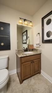 Optional Upstairs Powder Room - Fayetteville Model in Waxahachie Design Center Tilson Custom Home Photo