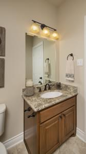 Downstairs Powder Room - Fayetteville Model in Waxahachie Design Center Tilson Custom Home Photo