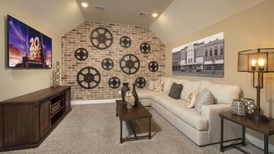 Optional Upstairs Theater Room - Fayetteville Model in Waxahachie Design Center Tilson Custom Home Photo