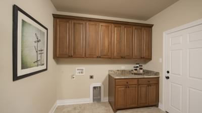 Utility Room - Fayetteville Model in Waxahachie Design Center Tilson Custom Home Photo