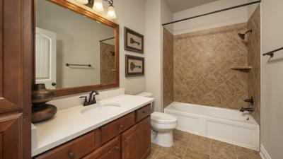 Bathroom 2 - Fredericksburg Model in Katy Design Center Tilson Custom Home Photo