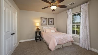Bedroom 3 - Fredericksburg Model in Katy Design Center Tilson Custom Home Photo
