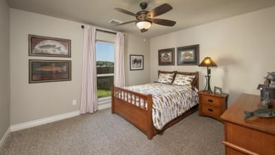 Bedroom 2 - Fredericksburg Model in Katy Design Center Tilson Custom Home Photo