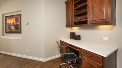 Hallway Desk Area - Fredericksburg Model in Katy Design Center Tilson Custom Home Photo