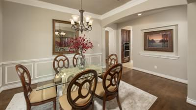 Dining Room - Fredericksburg Model in Katy Design Center Tilson Custom Home Photo